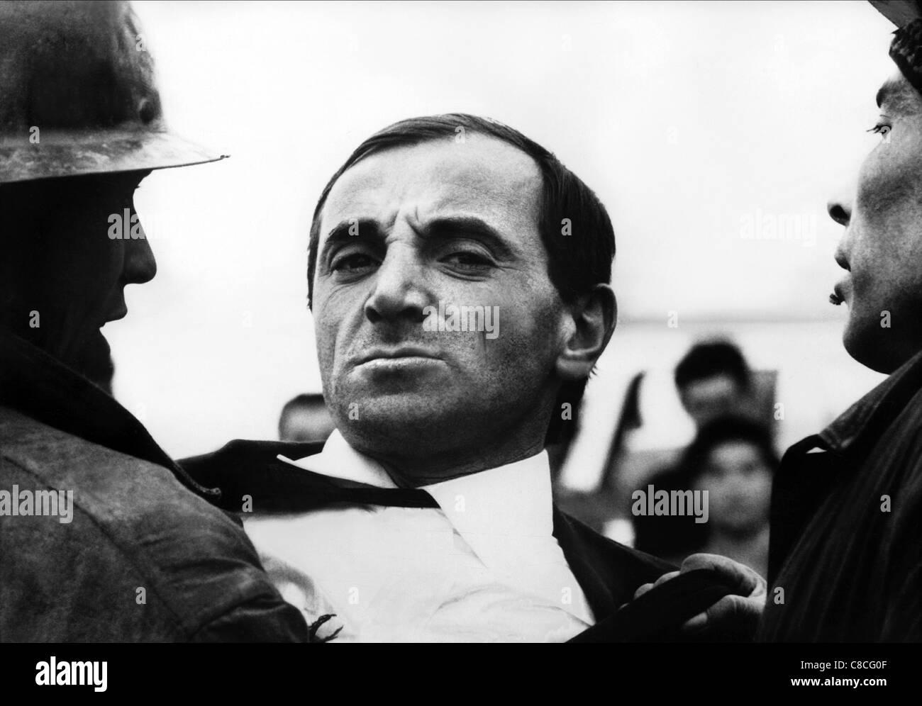 CHARLES AZNAVOUR LE RAT D'AMERIQUE (1963) - Stock Image