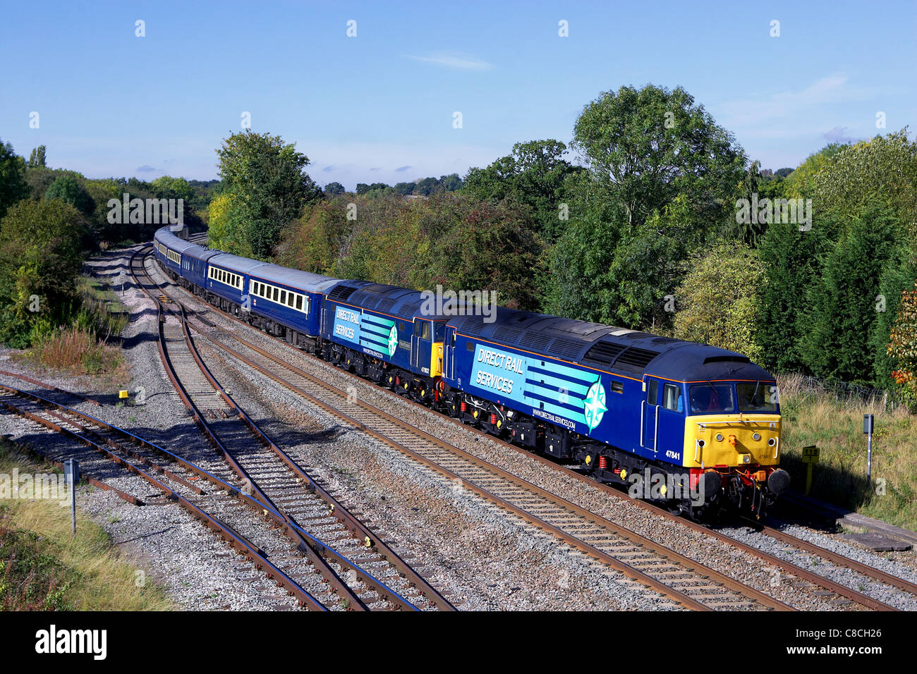 drs boat train, cruise saver express at hatton warwick - Stock Image