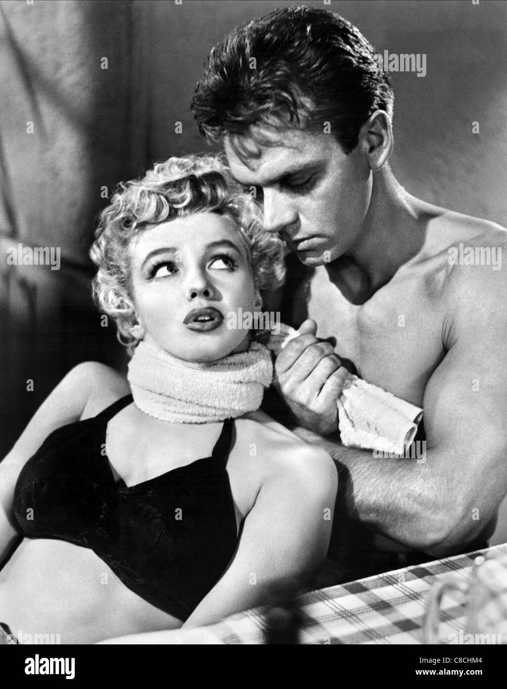 MARILYN MONROE & KEITH ANDES CLASH BY NIGHT (1952)