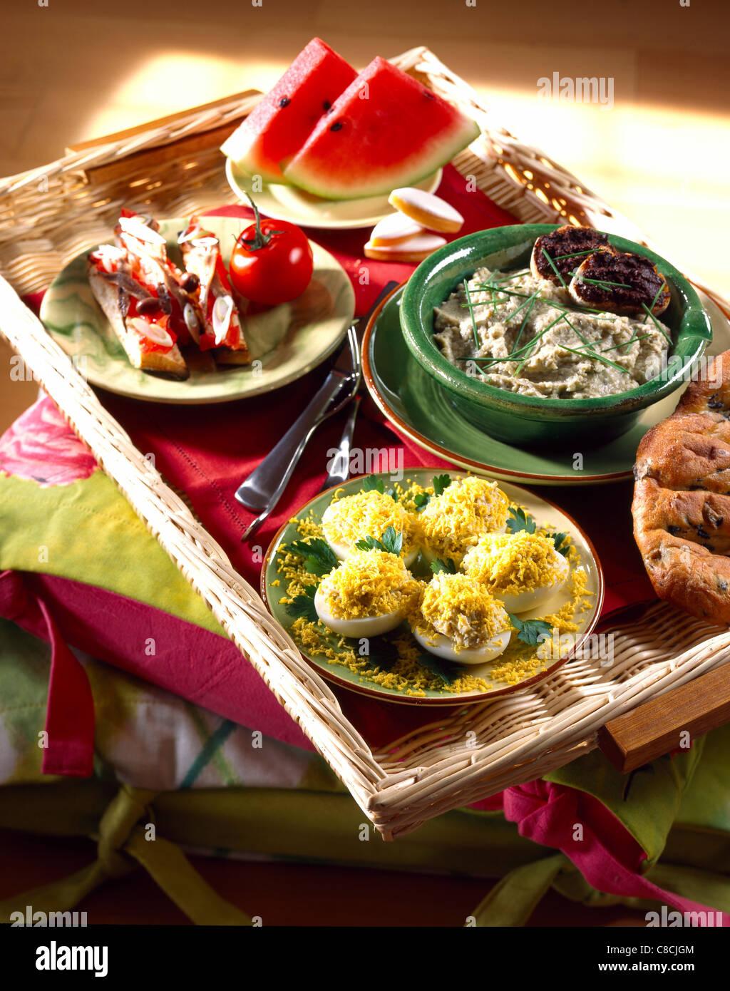 Provençal TV dinner tray - Stock Image
