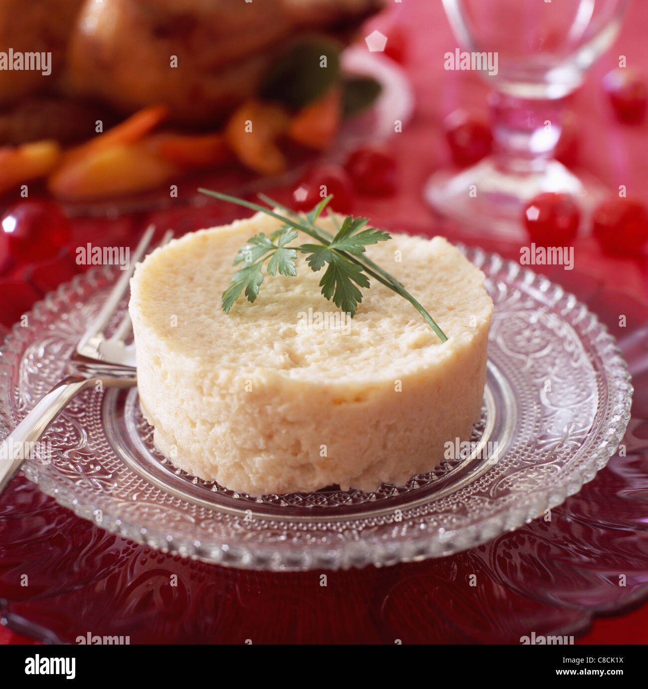 Timbale of pureed celery - Stock Image