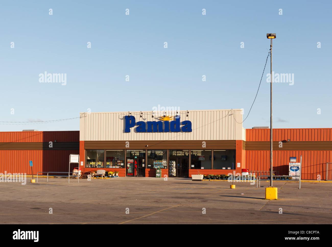 A Pamida discount store, Bemidji, MN, USA. - Stock Image