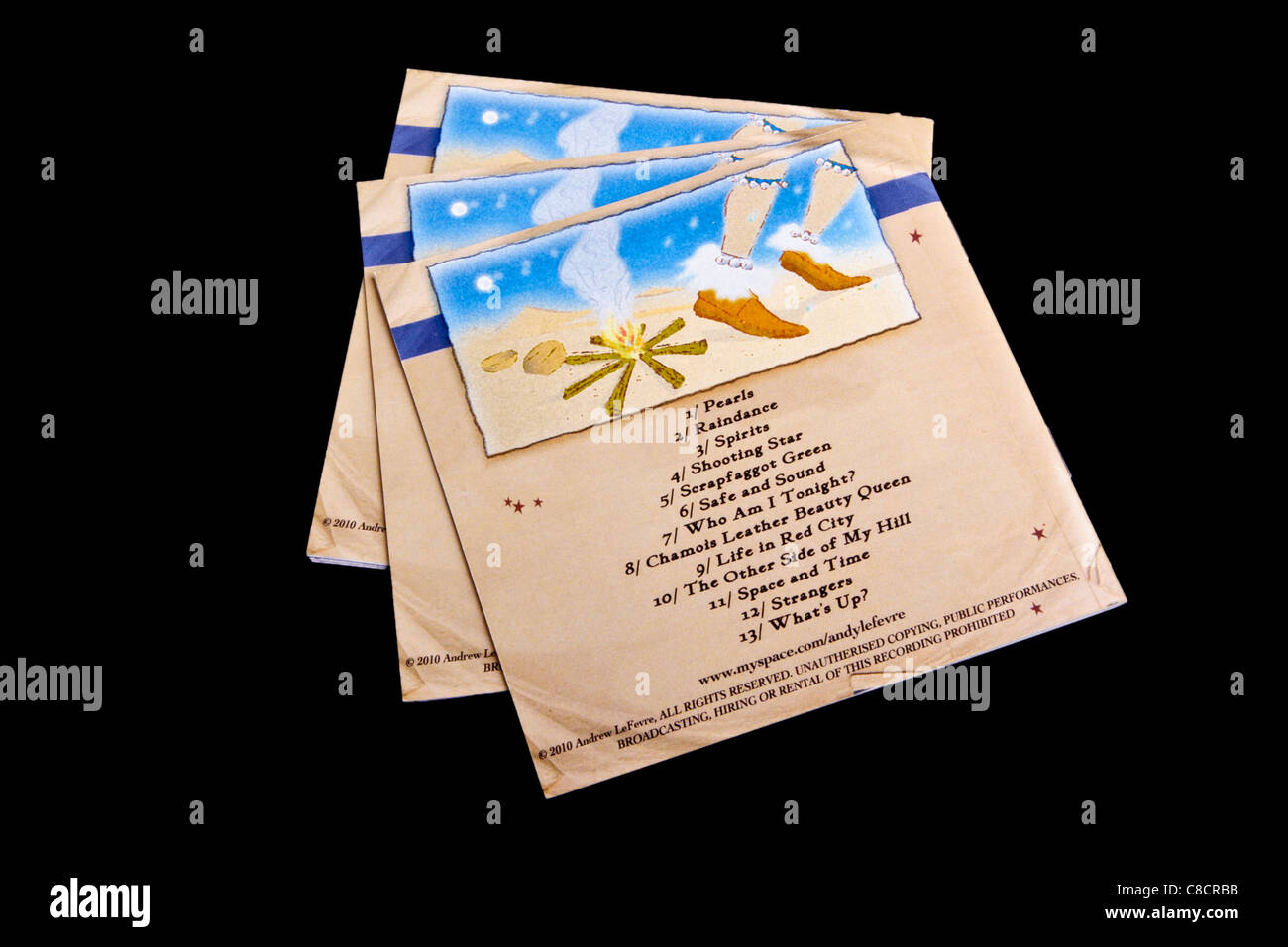 printed booklet inserts for a cd jewel case stock photo 39619759