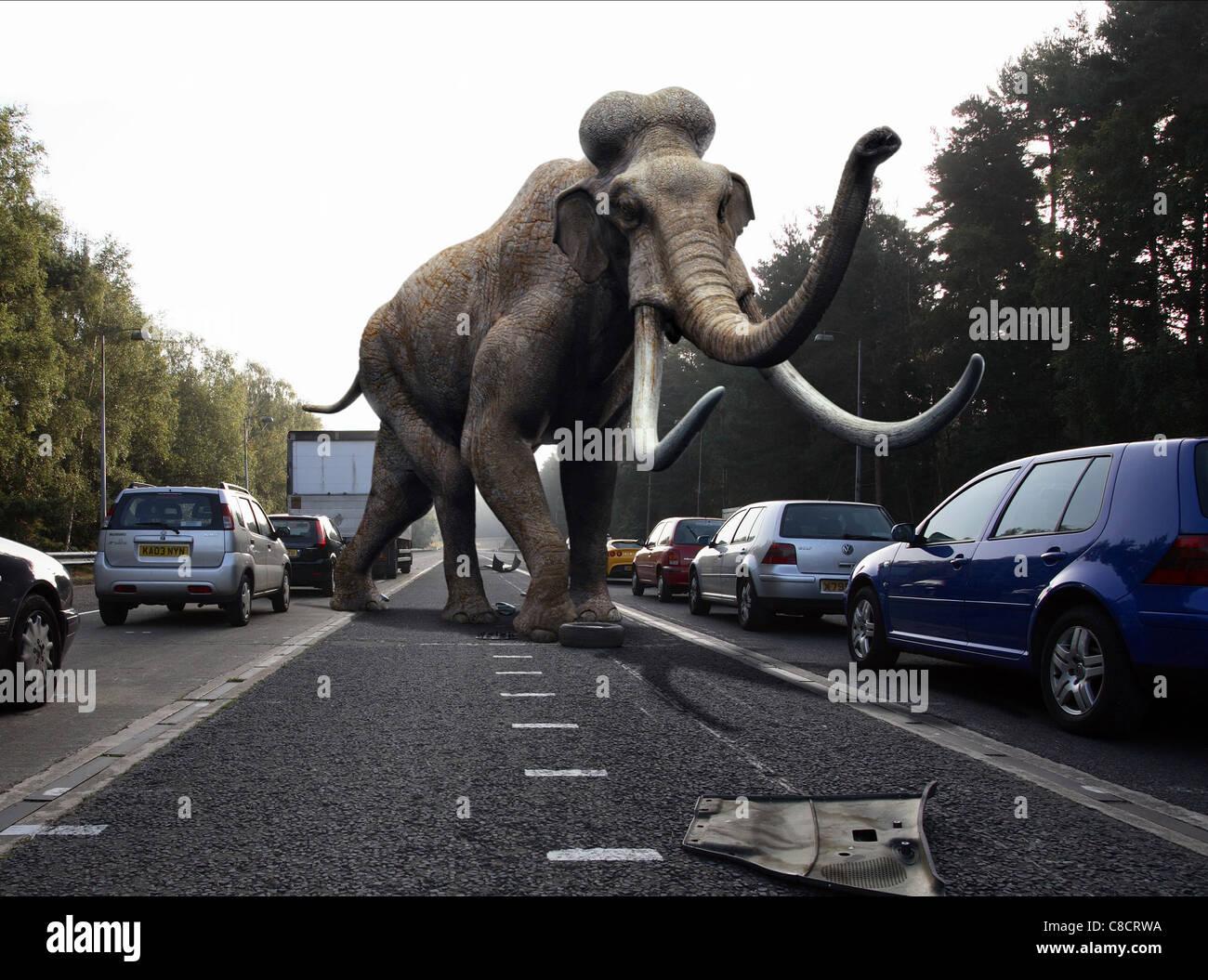 MAMMOTH SCENE PRIMEVAL (2007) - Stock Image