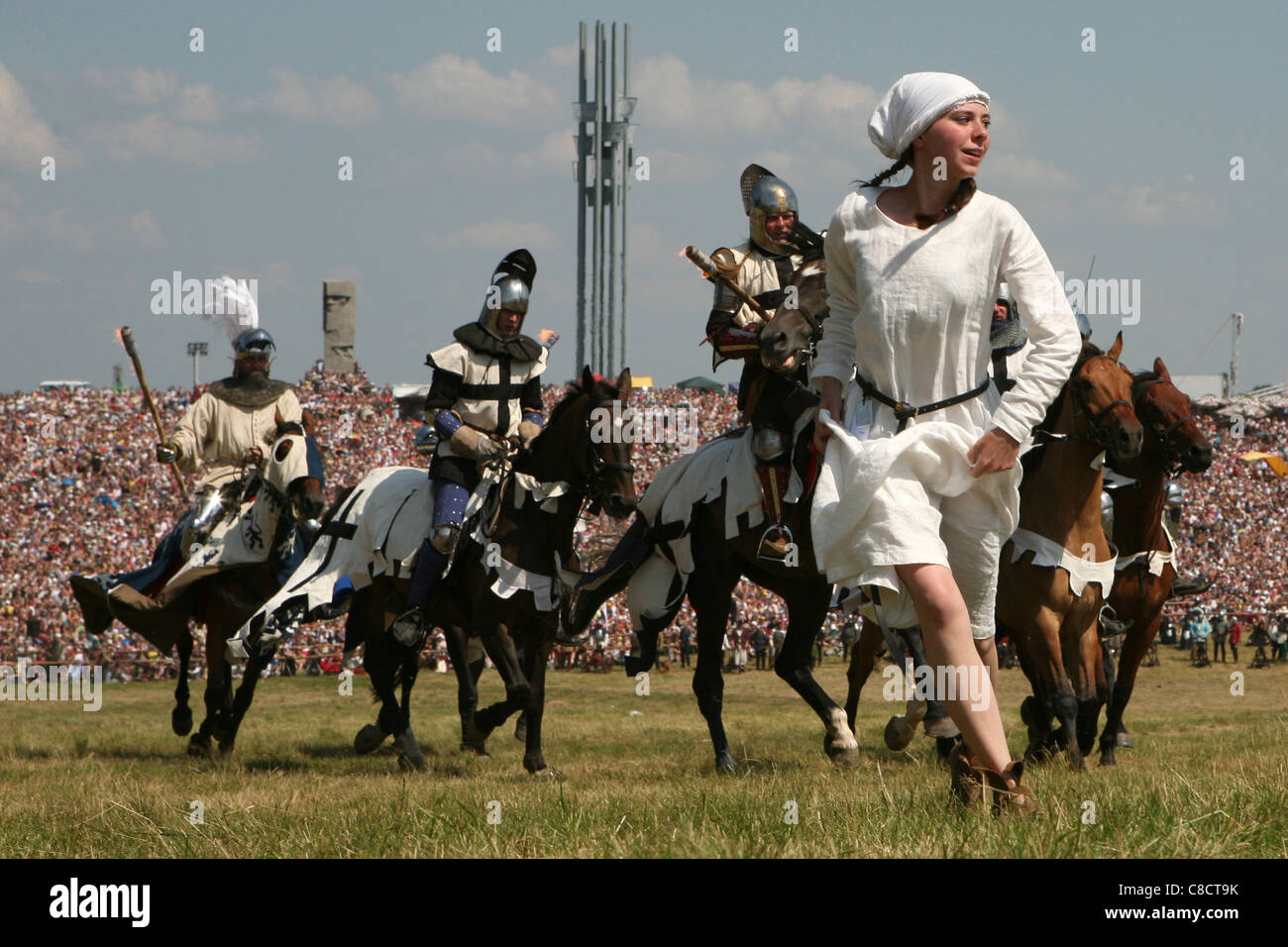 Re-enactment of the Battle of Grunwald (1410) in Northern Poland.