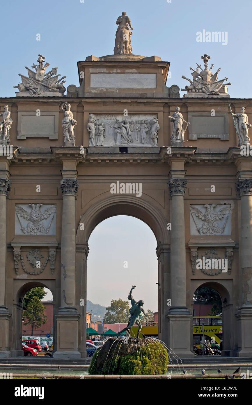 Piazza della Libertà in Florence - Stock Image