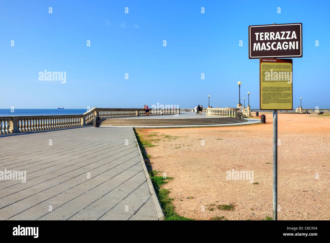 Livorno - Terrazza Mascagni - Stock Image