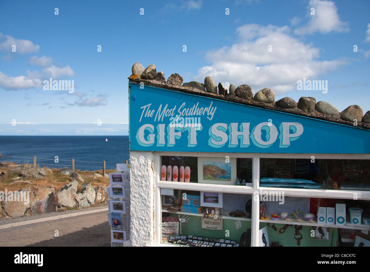 The Most Southerly Gift Shop in England, Lizard Point, Cornwall Stock Photo