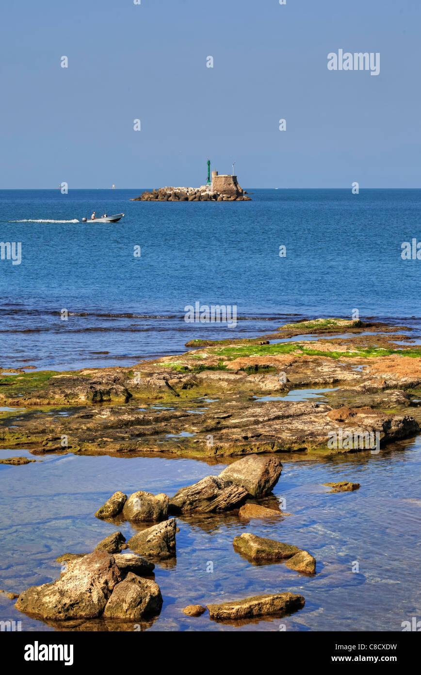 The archipelago of Livorno in the Mediterranean - Stock Image