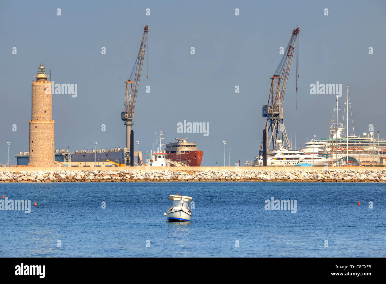 Livorno - habour - Stock Image