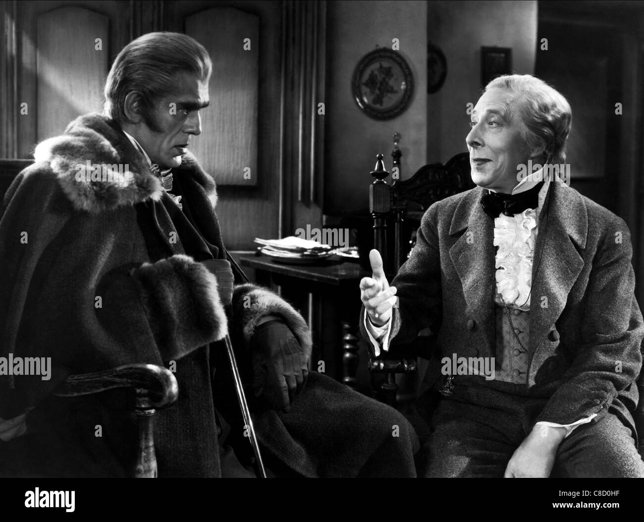 BORIS KARLOFF, GEORGE ARLISS, THE HOUSE OF ROTHSCHILD, 1943 - Stock Image
