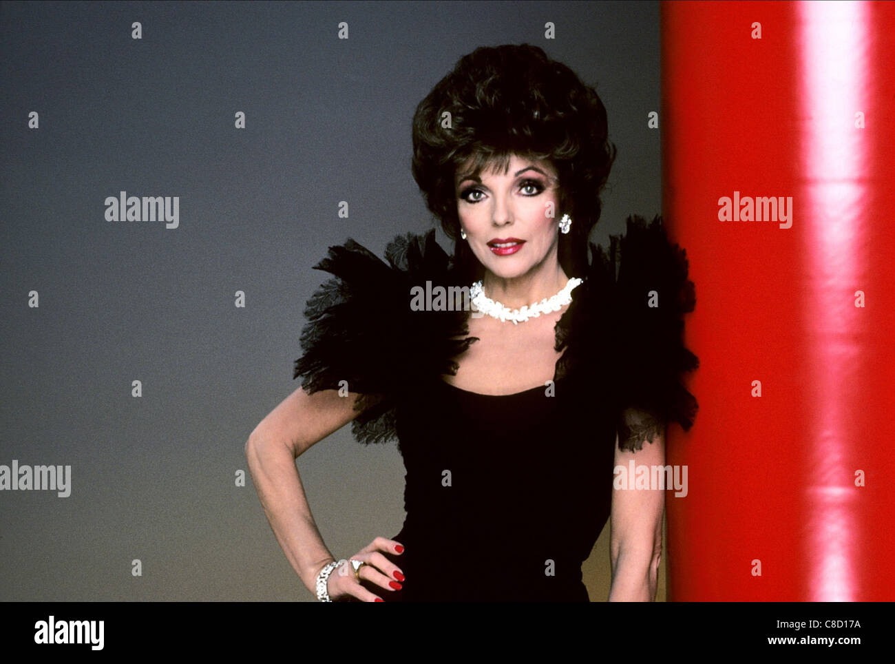 JOAN COLLINS DYNASTY (1985) - Stock Image