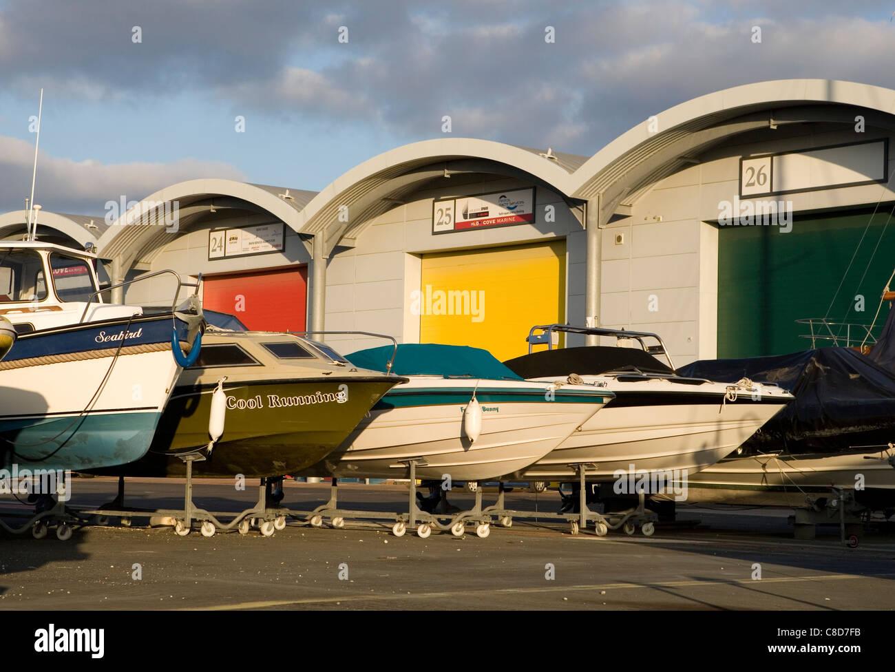 portland marina dry dock - Stock Image