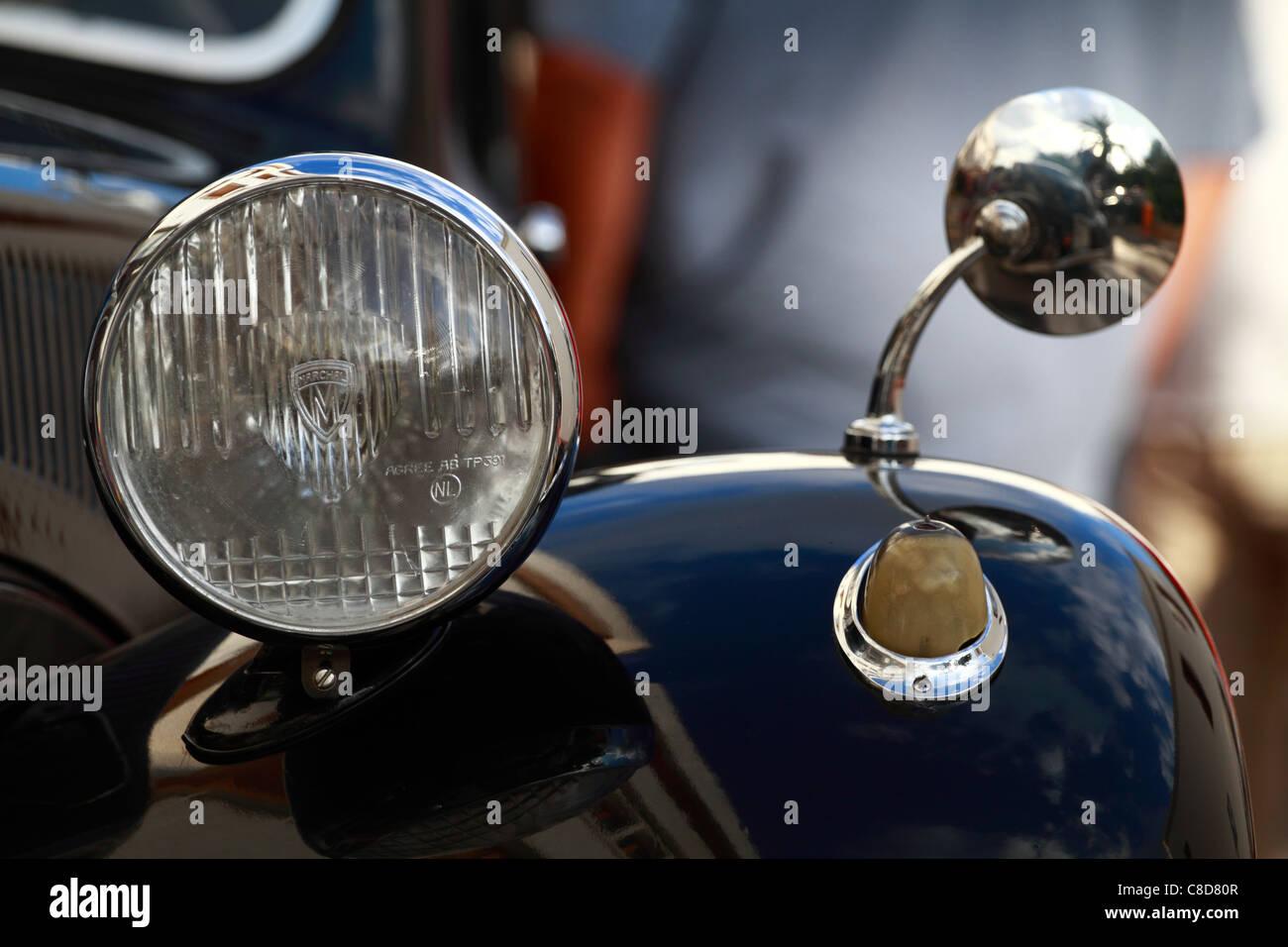 Vintage Citroen, front detail - Stock Image