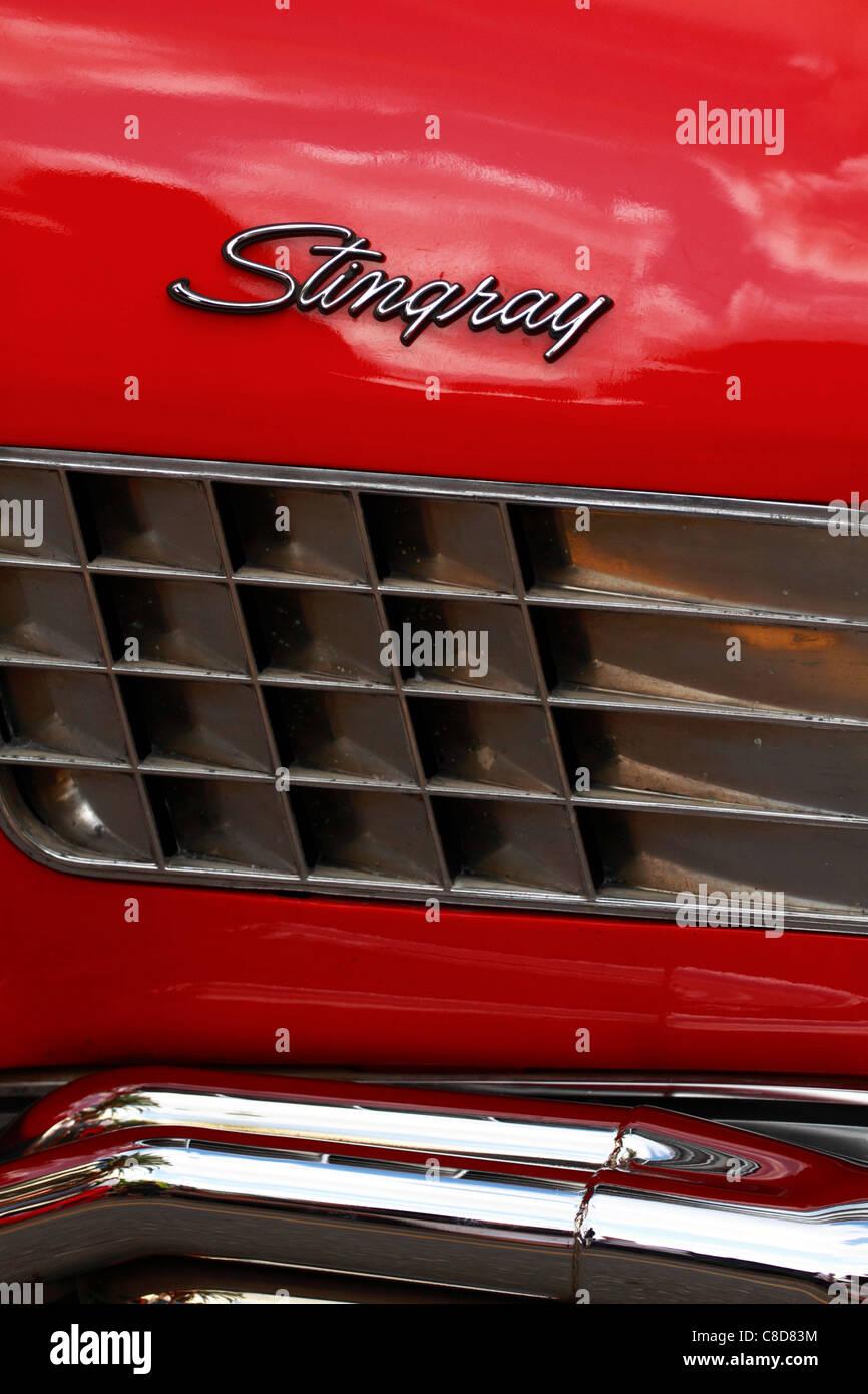 Chevrolet Corvette Stingray, side detail - Stock Image