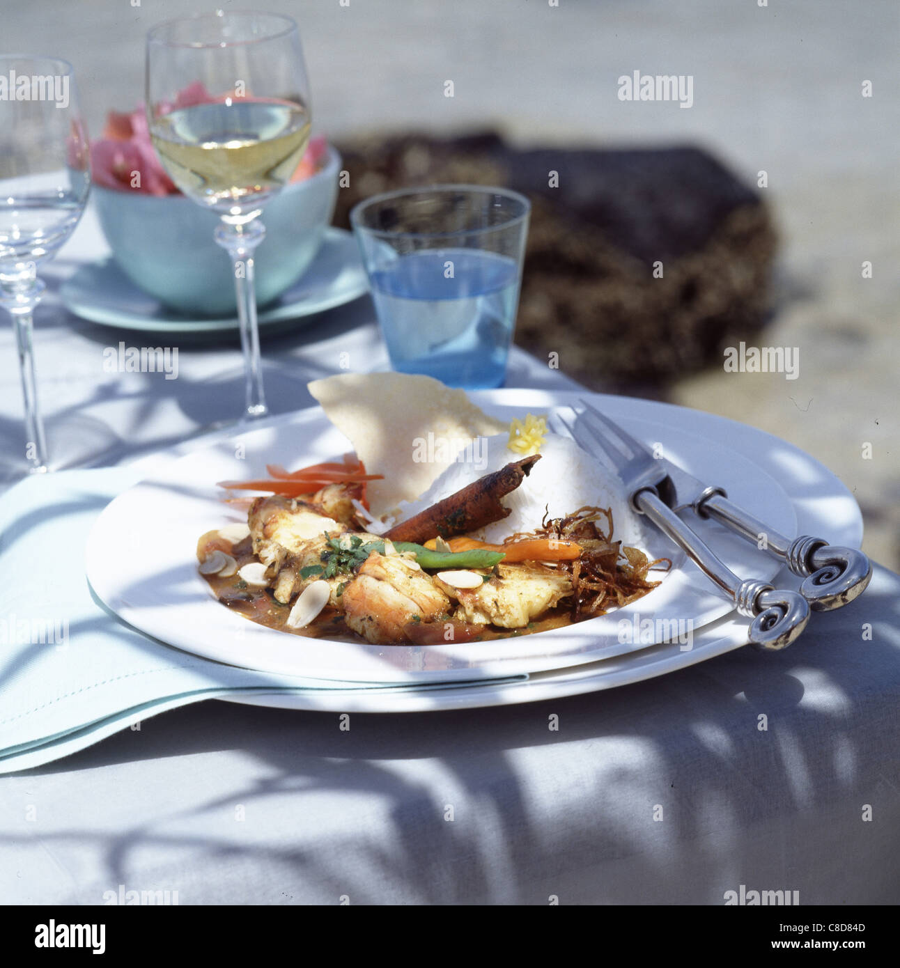 Mauritius lunch - Stock Image