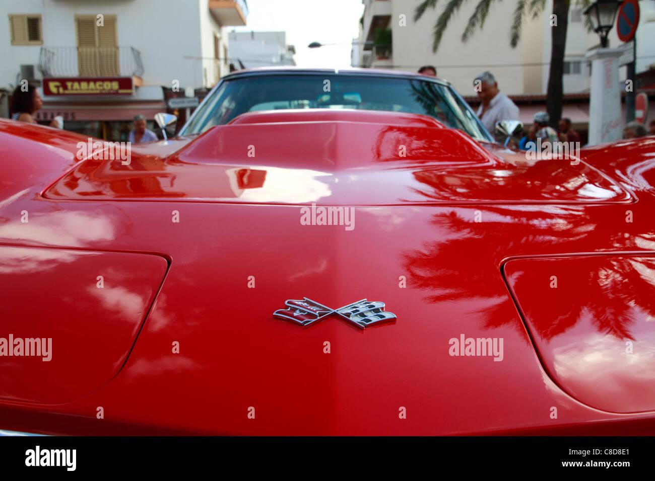 Chevrolet Corvette Stingray, bonnet detail - Stock Image