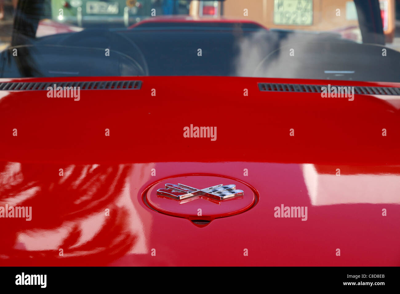 Chevrolet Corvette Stingray, bonnet detail Stock Photo