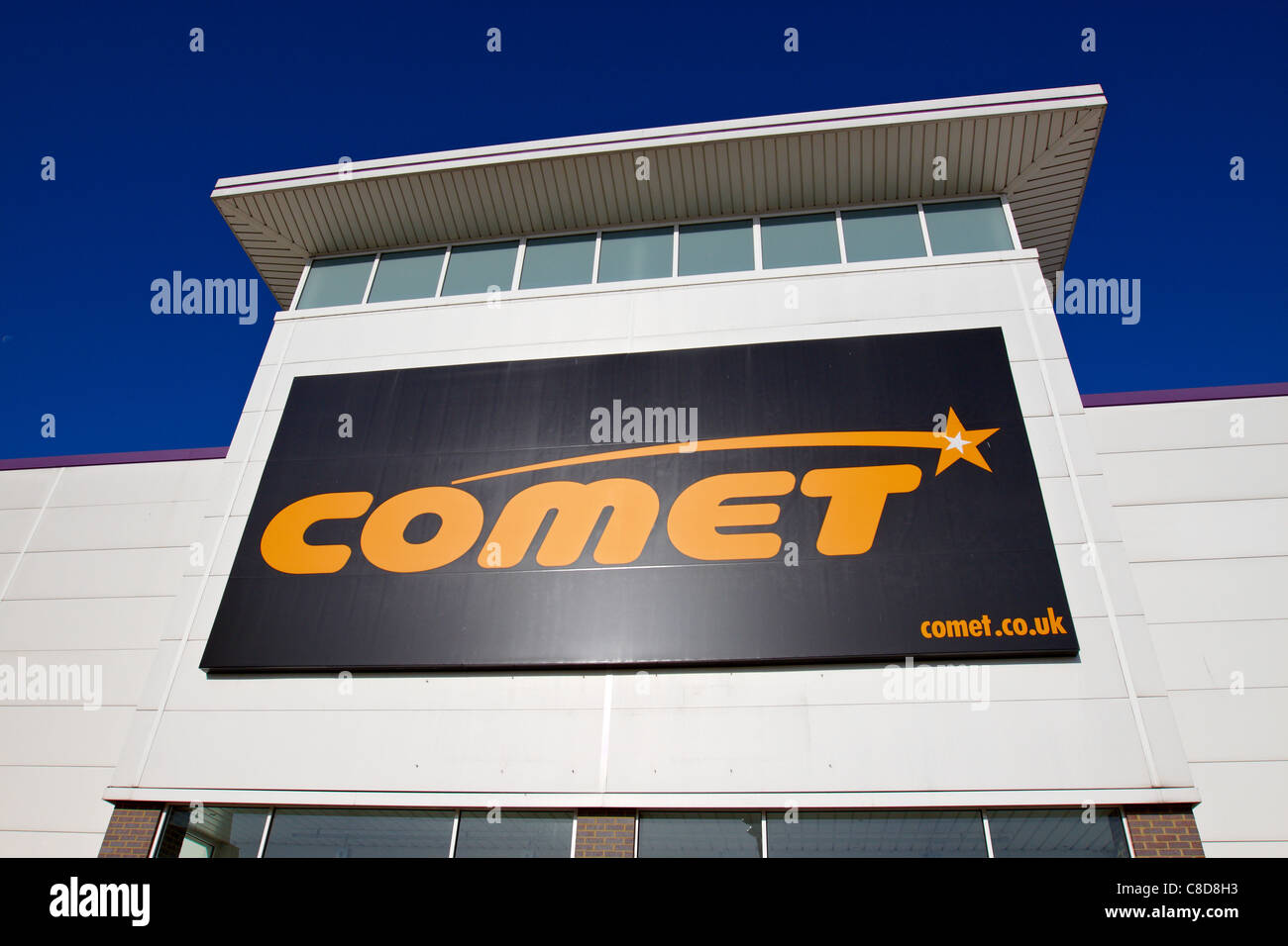 General view of the exterior of a Comet electrical store in Aylesbury - Stock Image