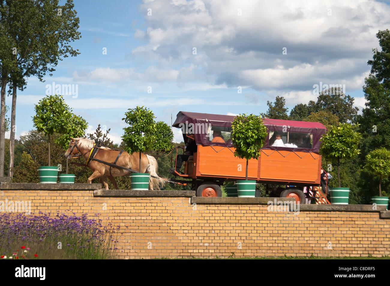 Hackney carriage, Bad Muskau, Germany. - Stock Image