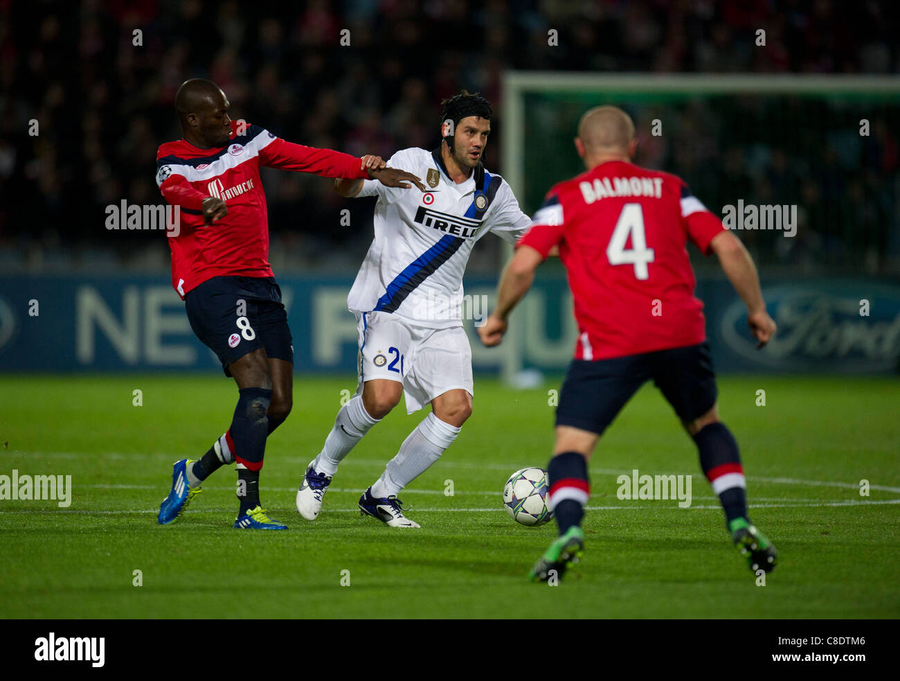 Christian chivu stock photos christian chivu stock images alamy moussa sow of lille olympique sporting club and christian chivu of inter milan stock image thecheapjerseys Image collections