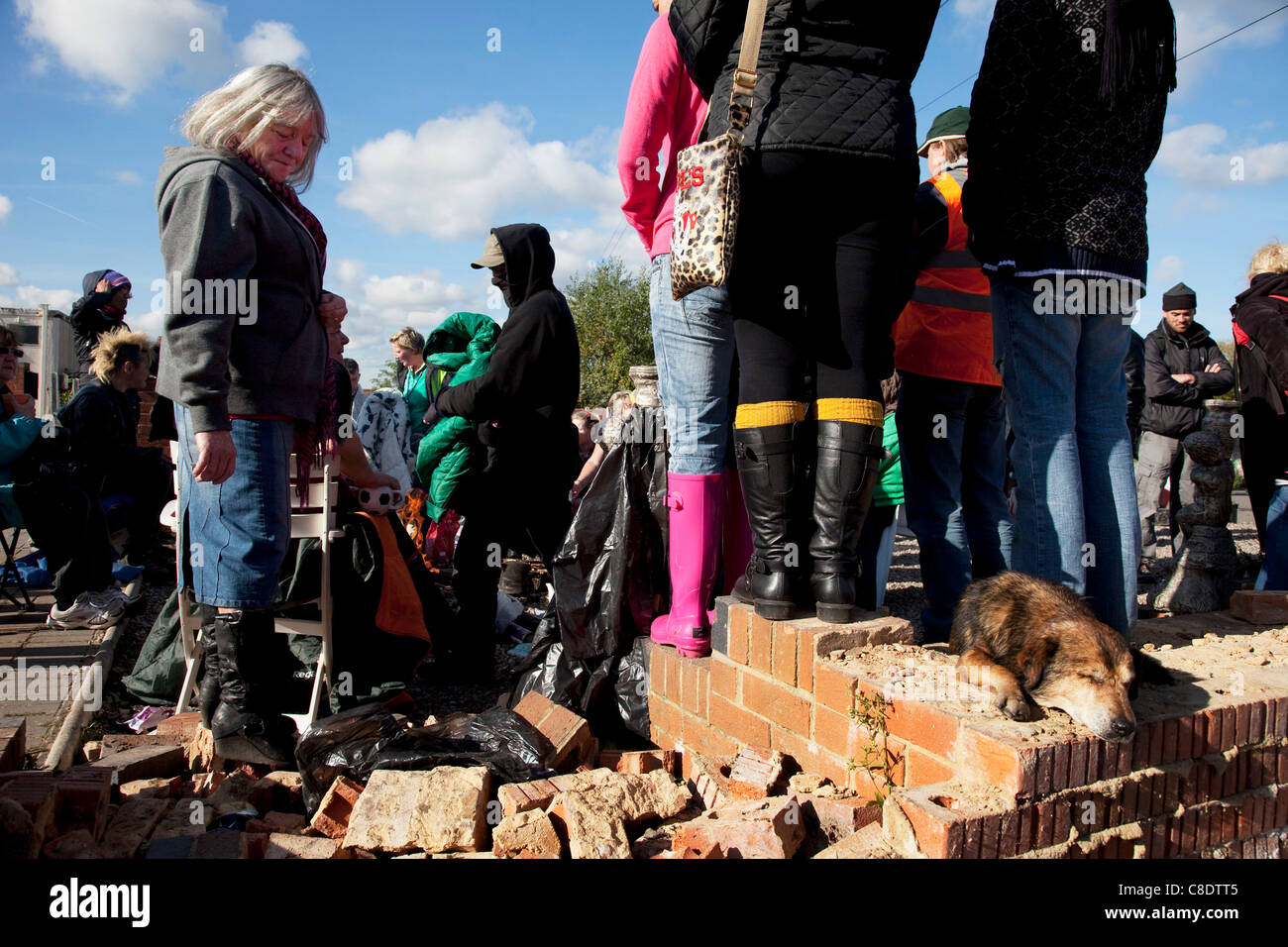 Dale Farm site prior to eviction, a Romany Gypsy and Irish Traveller site in Crays Hill, Essex, UK - Stock Image