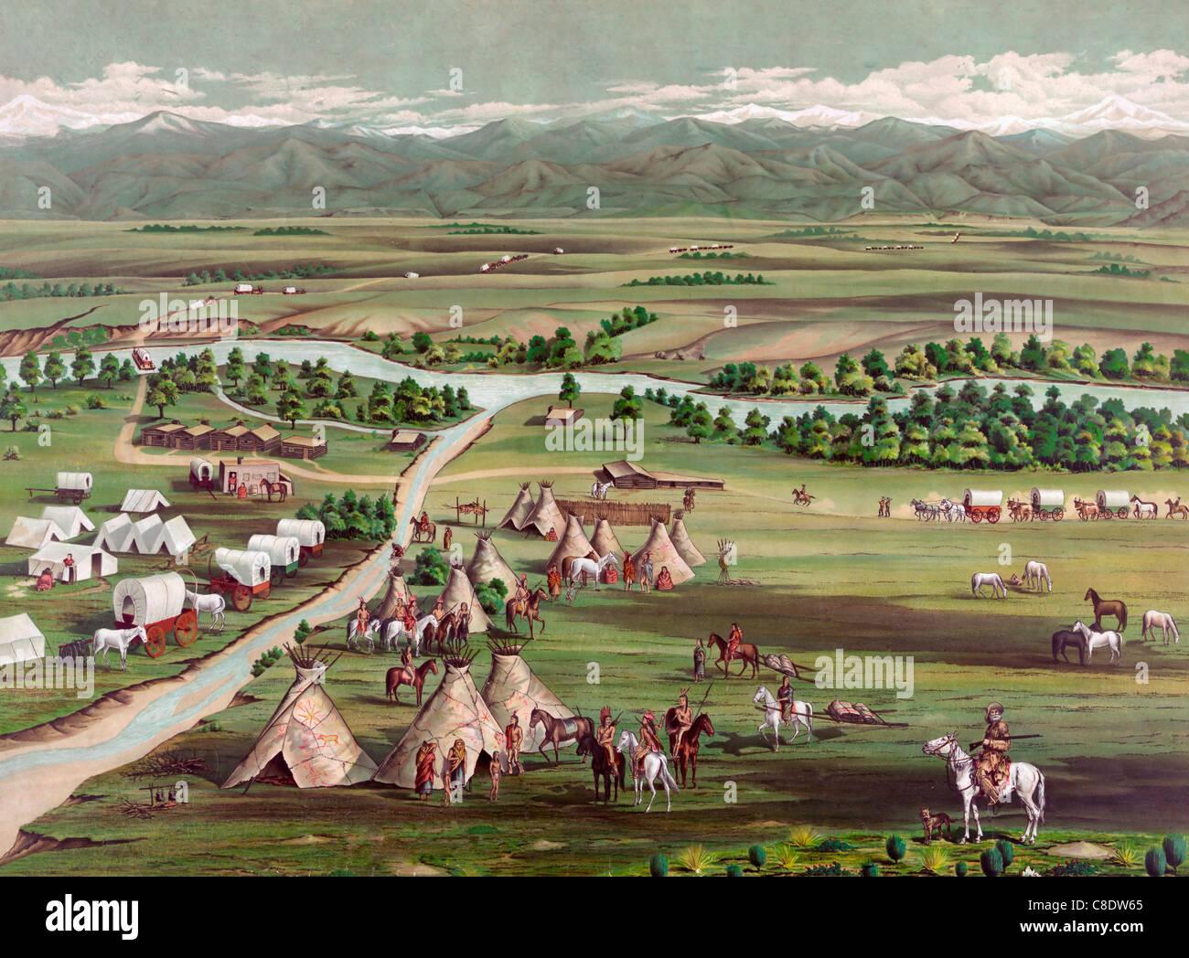 Denver, Colorado, USA  in 1859 - Stock Image