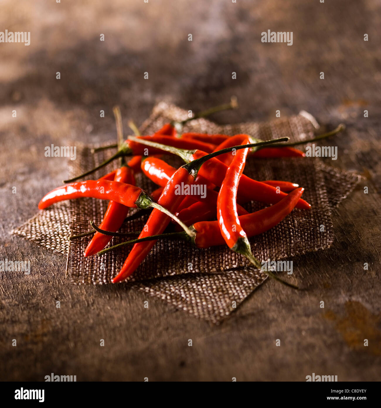 Red hot peppers - Stock Image