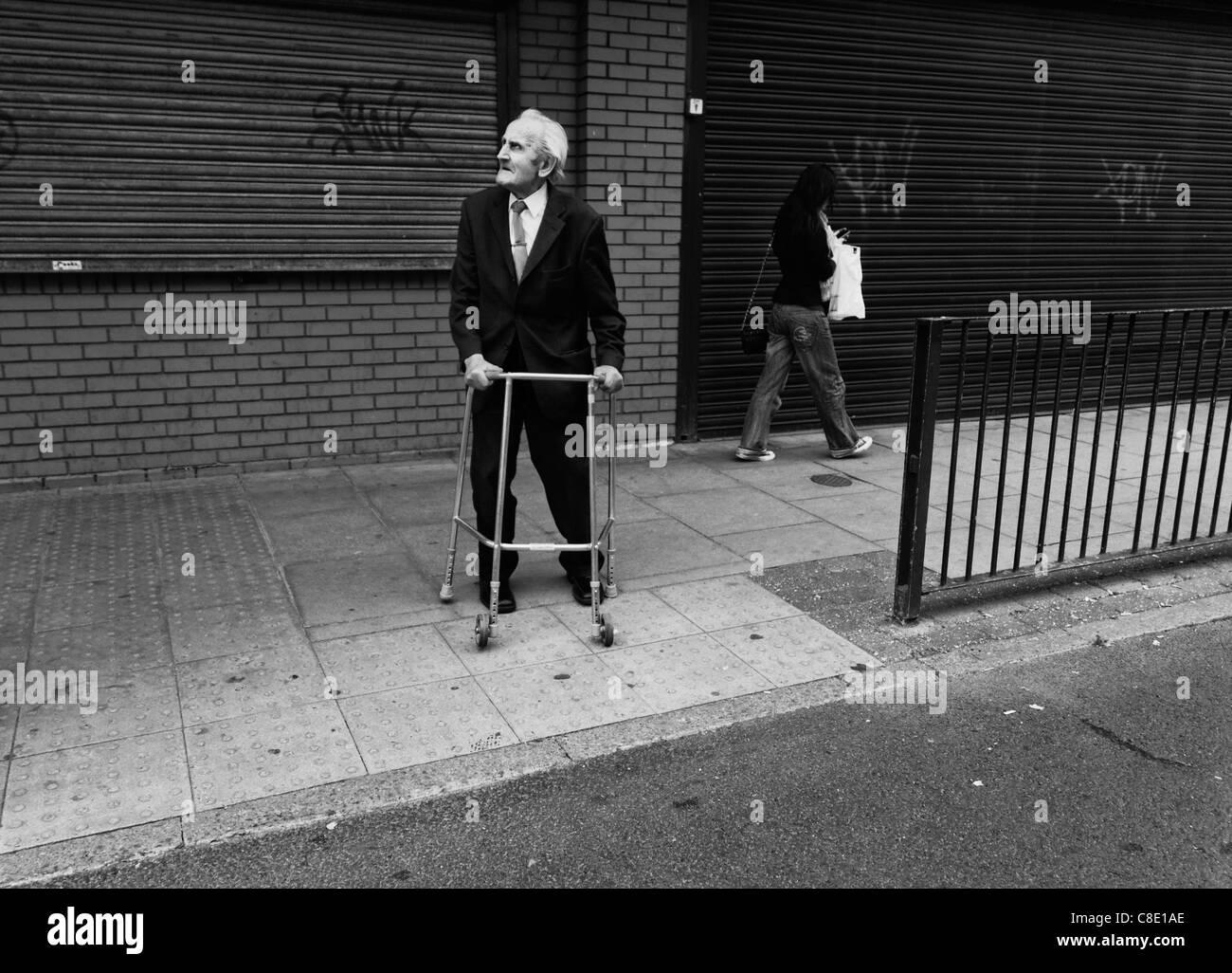 Old Man Walking Frame Stock Photos & Old Man Walking Frame Stock ...