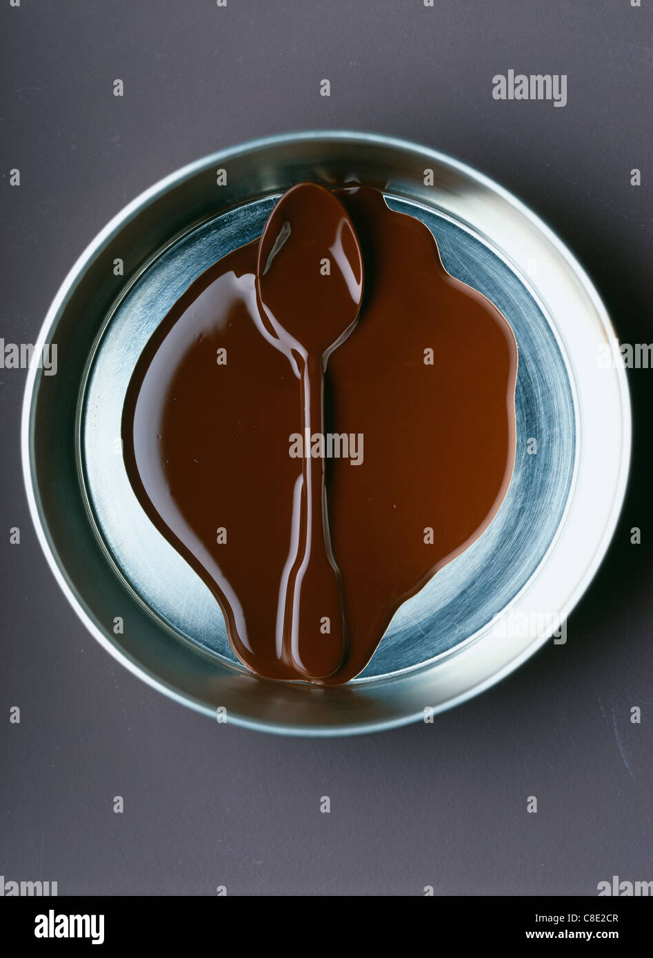 Melted chocolate Stock Photo