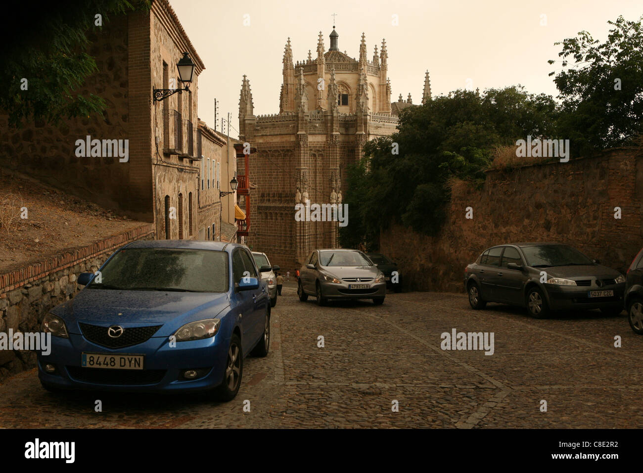 Gothic Church of San Juan de los Reyes in Toledo, Spain. - Stock Image