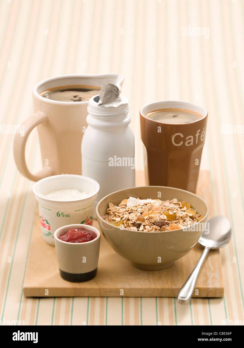 Well-balanced man's breakfast - Stock Image