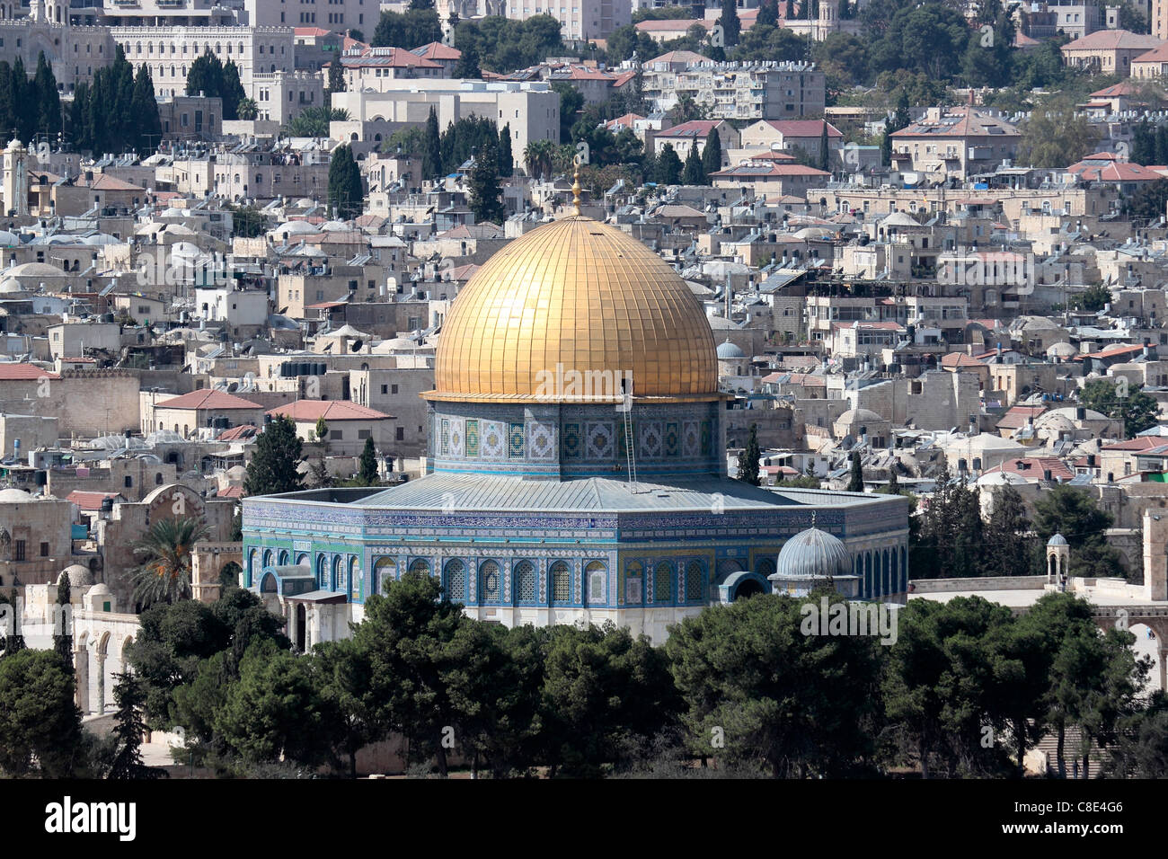 The Dome of the Rock, Temple Mount, Jerusalem, Israel Stock Photo