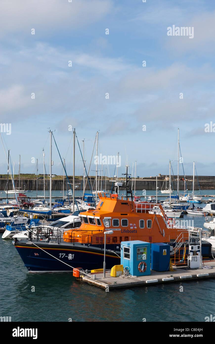Holyhead Marina, Isle Of Anglesey, Wales Stock Photo