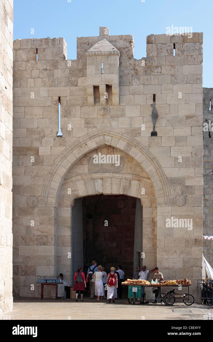 Jaffa Gate, Jerusalem - Stock Image