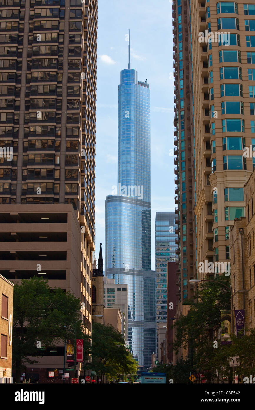 Trump Towers, Chicago, Illinois - Stock Image
