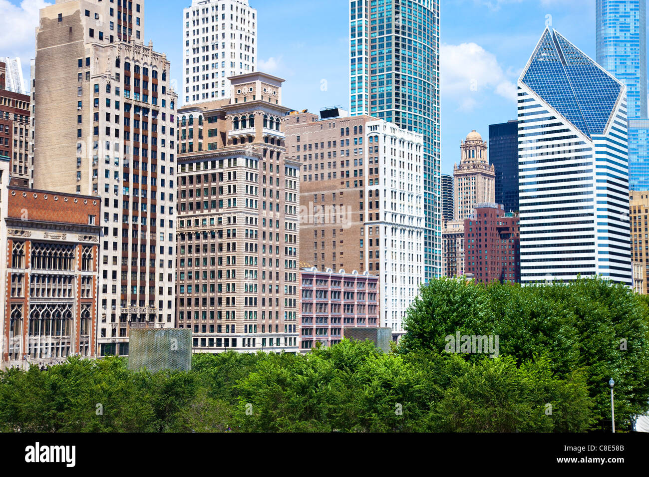 Skyline, Chicago, Illinois - Stock Image