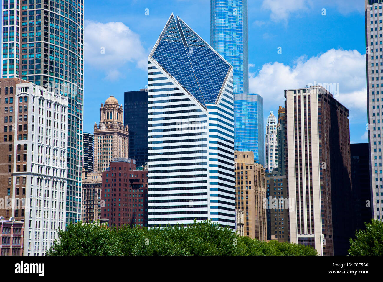 Smurfit-Stone Building, Chicago, Illinois - Stock Image