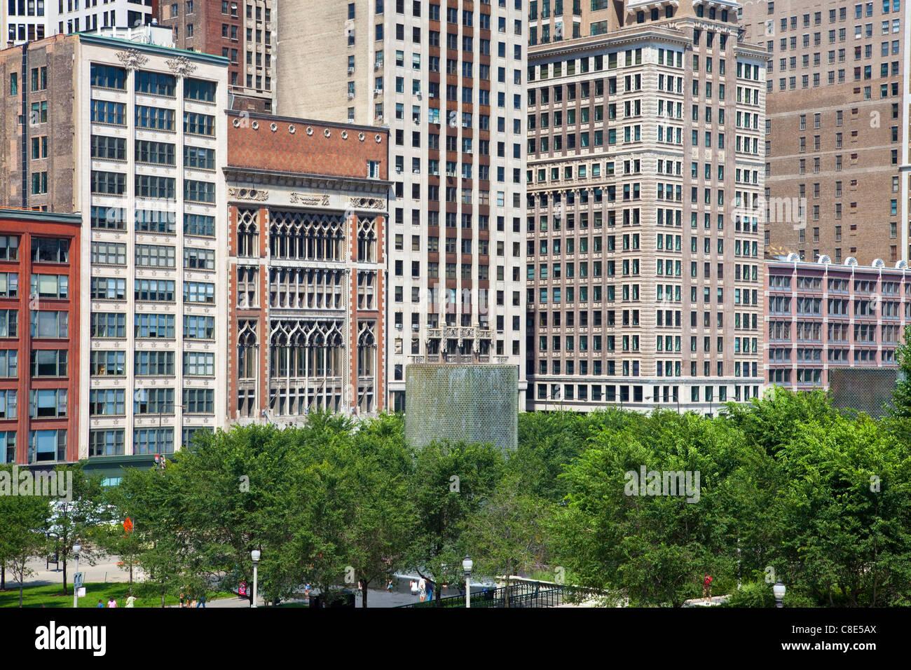Crown Fountain, Chicago, Illinois - Stock Image