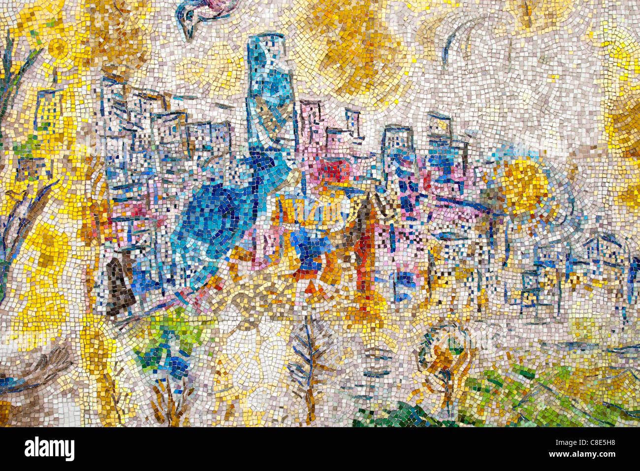 Four Seaons, Chagall mural, Chicago, Illinois - Stock Image