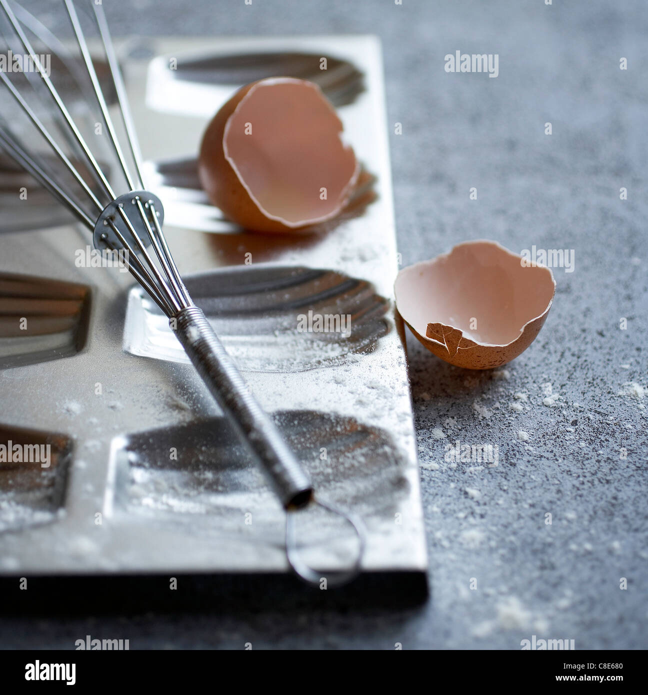 Madeleine tin mould - Stock Image