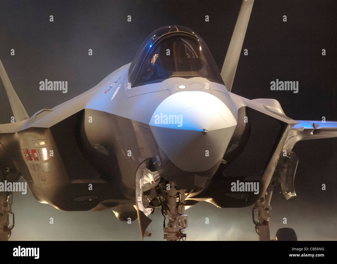 Air Force Chief of Staff Gen. T. Michael Moseley announced Lightning II as the F-35 name - Stock Image