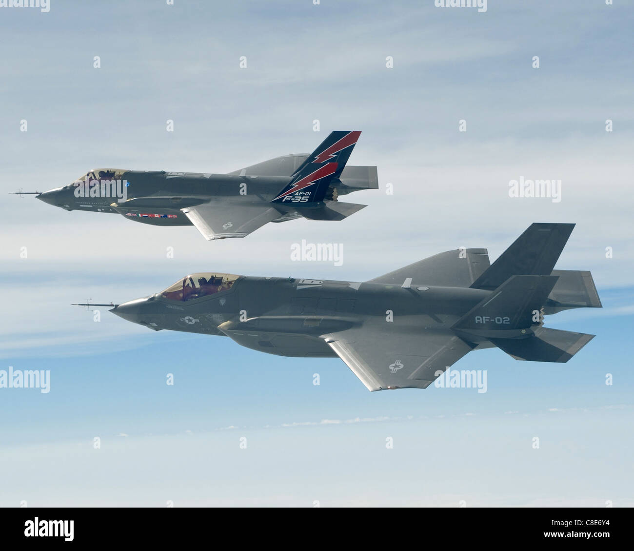F-35A Lightning II joint strike fighters - Stock Image