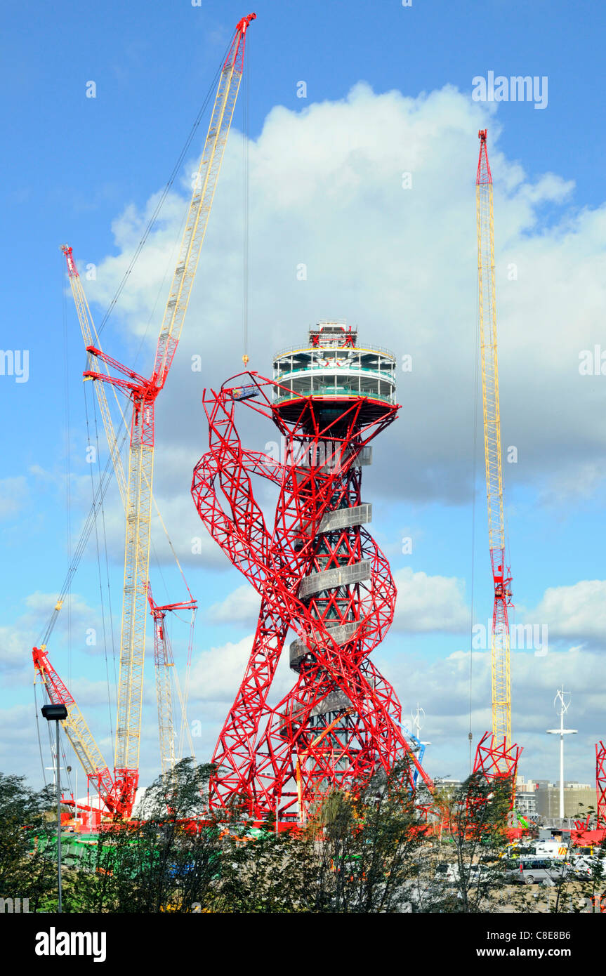 Arcelor Mittal Orbit tower in the 2012 London Olympic park Stratford Newham East London England UK Stock Photo