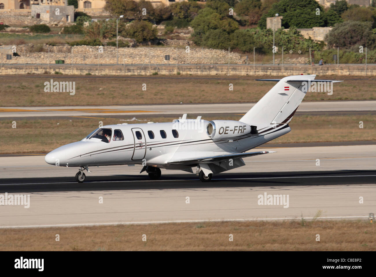 Cessna Citation CJ1 small business jet on the runway - Stock Image