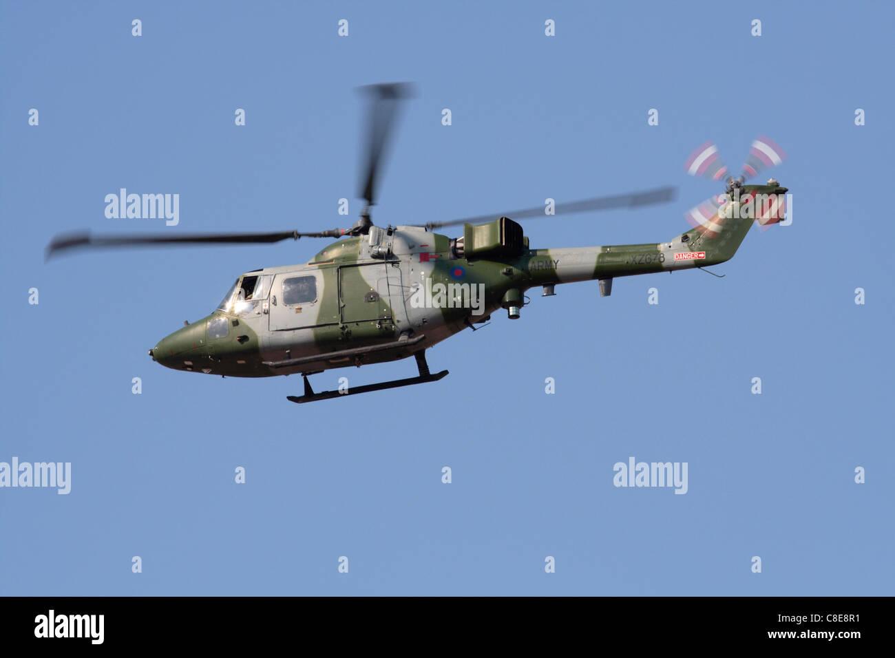 British Army Westland Lynx - Stock Image