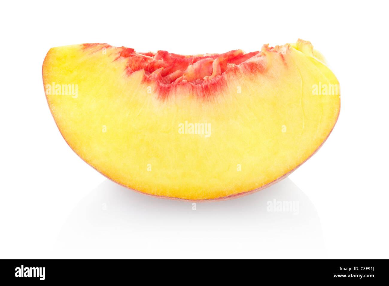 Peach slice - Stock Image