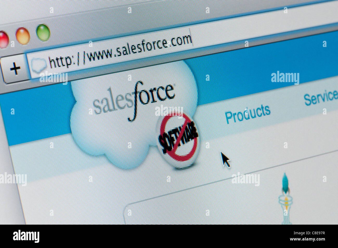 Close up of the Sales Force logo as seen on its website. (Editorial use only: print, TV, e-book and editorial - Stock Image