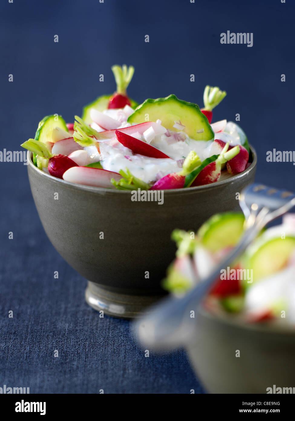 Crunchy salad - Stock Image