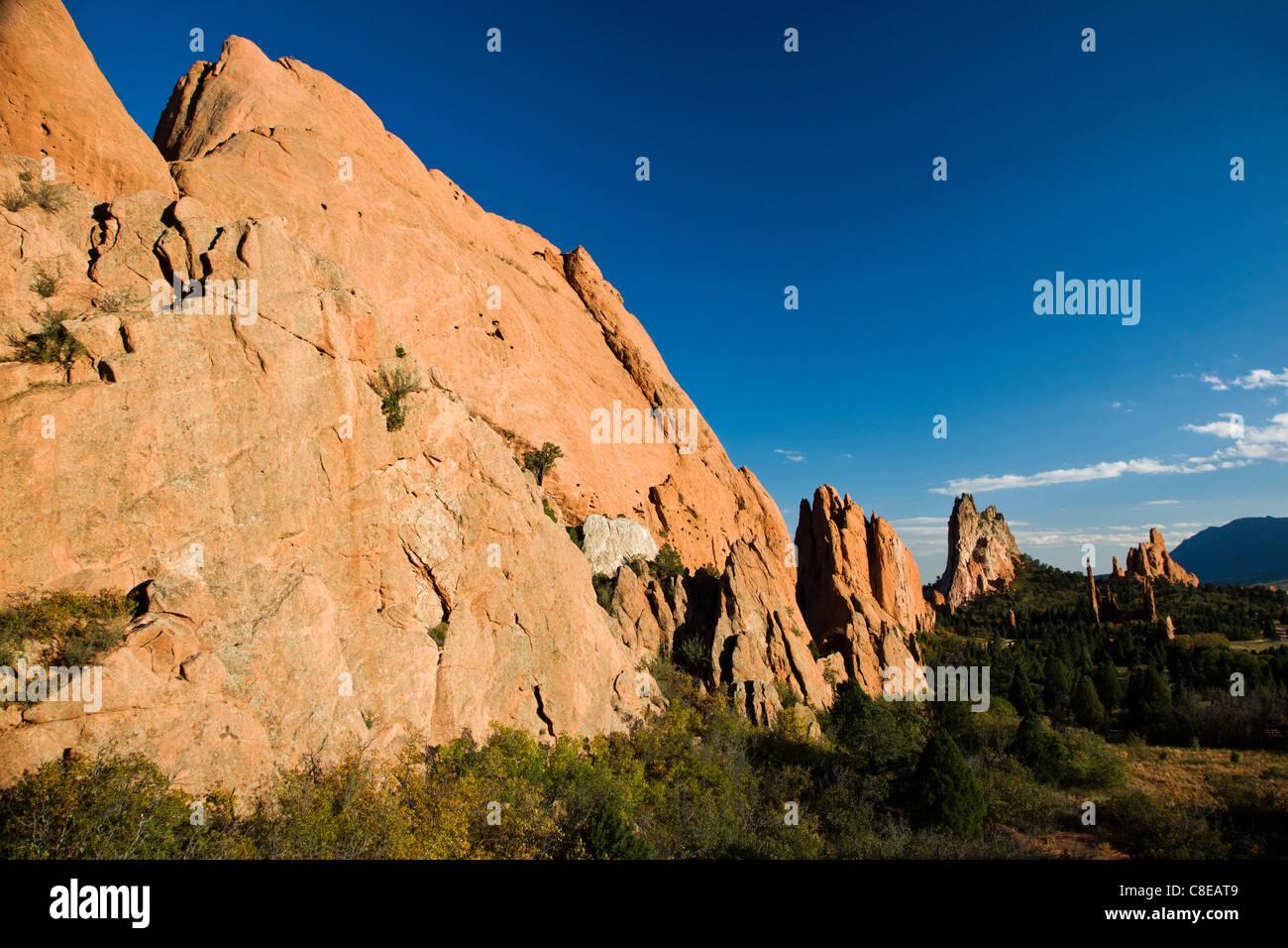 South Gateway Rock, Garden of the Gods, National Natural Landmark, Colorado - Stock Image